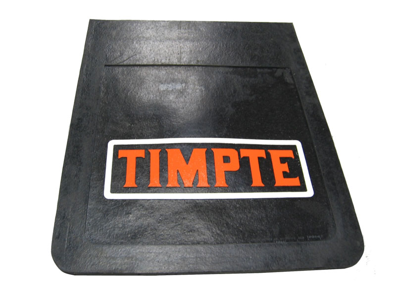 "Mud Flap 24"" X 30"" Black Rubber With Timpte Logo"