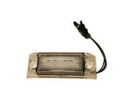 PM CLEAR LED AMBER MARKER LIGHT W/ PACKARD CONN.
