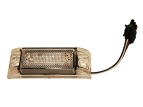 PM CLEAR LED AMBER MIDSHIP LIGHT W/ PACKARD CONN
