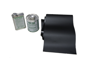 TARP REPAIR KIT, INCLUDE GLUE, SOLVENT AND MATERIAL BLACK ONLY